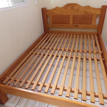 Cama De Casal(almofadada) 100% Madeira Maciça