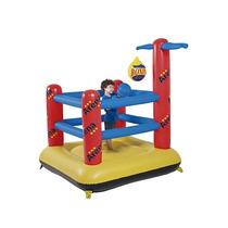 Arena Inflável Pula Pula Boxe Basquete Brinquedo Cercadinho
