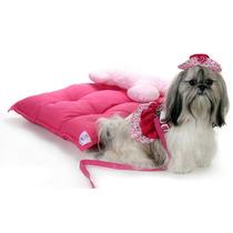 Colchão Conforto Para Cachorros Cama P Caes C/ Travesseiro M