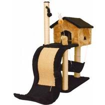 Tobogã Casa Para Gatos Cama Com Arranhador E Brinquedo Cat