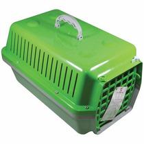 Caixa / Casinha Para Transportar Cachorro Ou Gato Verde