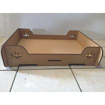 Cama Caminha Para Cachorro Pet Em Mdf Madeira 60x40