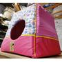 Cama Toca Iglu Para Gato Cachorro Bolita Pet Pink 60cm