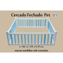 Cercado Fechado De Madeira Para Cães E Gatos Nº03