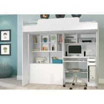 Modulo Office Teen Cama, Bau, Escrivaninha, Escada, Nincho