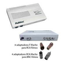 Sequencial De Video Cftv P/ 4 Cameras +adaptadores F Rca Bnc
