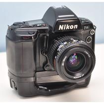 Câmera Nikon F90 + Lente + Grip Nikkor Filme 35 Profissional