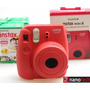 Câmera Fuji Instax Mini 8 Foto Instantânea Vermel +20 Filmes