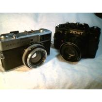 02 Máquinas Fotográficas Antigas ( Marcas : Zenit - Olympus)