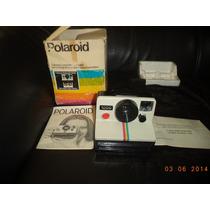 Camera Polaroid Antiga Na Caixa Com Manual Ano 1974