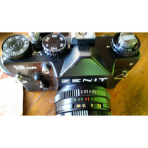 Máquina Fotográfica Antiga Zenit Com Manual E Estojo Em Cour