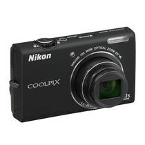 Câmera Digital Nikon Coolpix S6200 Preta 16 Mp Zoom Óptico 1
