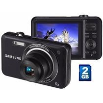 Camera Digital Samsung Hd Zoom + Case + Cartão 2gb