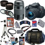 Canon Eos Rebel T5i Digital Slr Camera Kit Com 17 Produtos