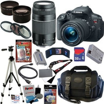 Canon Eos Rebel T5i Digital Slr Camera Kit Com 17 Produtos