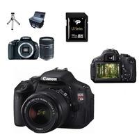Canon Eos Rebel T3i +lente+32gb ( Classe 10)+bolsa+tripé