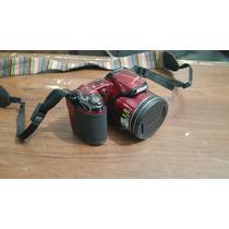 Camera Semiprofissional Nikon Coolpix L810 Vermelha