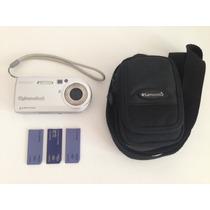 Sony Cyber Shot Dsc P100 + 3 Memory Card + Case Samsonite