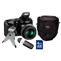 Câmera Nikon Coolpix L330 20.2 Mp + Bolsa + Tripé + Leitor