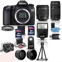 Canon Eos 70d + 4 Lentes E 16 Ascessorios