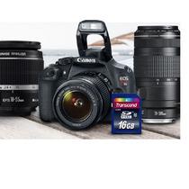 Kit Câmera Digital Canon T5 18-55mm + 75-300mm + 16gb Cl.10