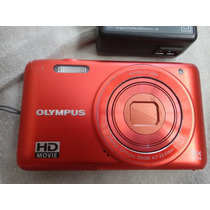 Camera Digital Olympus Laranja Hd Compacta Digital-descricao