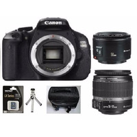 Camera Canon Eos Rebel T3i +18-55 + 50 Mm +32gb Clas10+bolsa