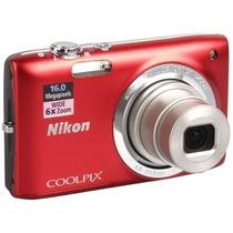 Câmera Digital Nikon S2700 - 16mp - Original Com Nf Vermelha