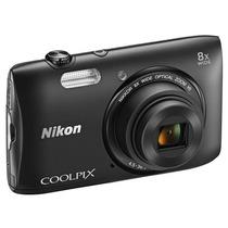 Câmera Nikon Coolpix S3600 - 20.1mp, Zoom 8x, + Cartão Sd