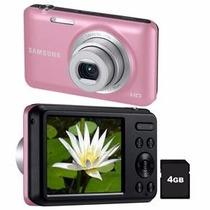 Camera Digital Samsung Es95 Rosa Brinde Cartão 4gb Envio Já