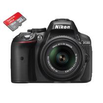 Câmera Digital Nikon D5300 Lente 18x55 - Brinde Sd 16gb C10