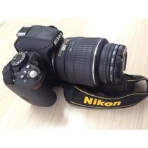 Câmera Profissional Nikon D-3100 Lente 18-55mm 14mp C/ Bolsa