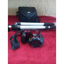 Câmera Nikon L810 16.1mp 26x Zoom + Bolsa + Tripé