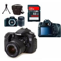 Câmera Canon Eos 70d + 18-55 +bolsa+tripé+32gb + Kit Limp