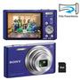 Câmera Digital Sony Cyber-shot Dsc-w730 Azul Com 16.1 Mp
