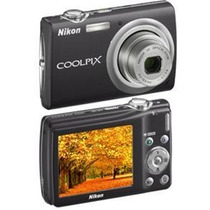 Câmera Digital Nikon Coolpix S203 Preta C/ 10 Mp, Zoom Óptic