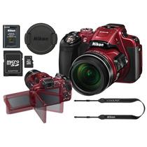 Câmera Nikon Coolpix P610 De 16 Mp C/ Bolsa, Monopé, Sd 8 Gb