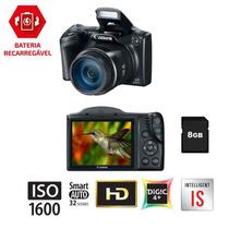 Câmera Canon Poweshot Sx400 Is 16mp, Full Hd, Cartão 8gb