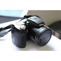 Câmera Semiprofissional Nikon Coolpix L120 14mpx 21x Zoom