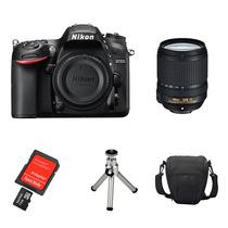 Câmera Nikon D7200 Kit 18-140 + Sd32gb, Bolsa, Tripé, Kit Lp