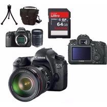 Câmera Canon Eos 6d+24-105mm+bolsa+tripé+64gb+kit Limpeza!