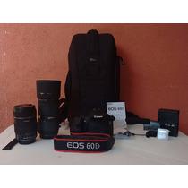 Canon Eos 60d 18-135mm + 50-150mm 2.8 + Microfone + Mochila
