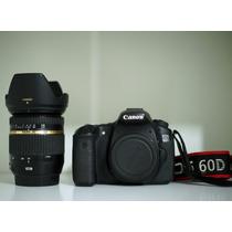 Canon 60d + Tamron 17-50 2.8 Vc + Carregador + 3 Baterias
