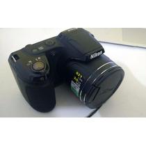 Câmera Digital Nikon Coolpix L810 + Pilhas + Bolsa