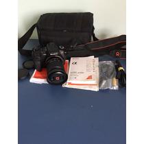 Camera Sony Alpha A350 Lente 18-70mm Completa Profissional