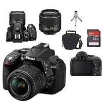 Câmera Nikon D5300 Kit 18-55mm + Cartão 32gb + Bolsa +tripé