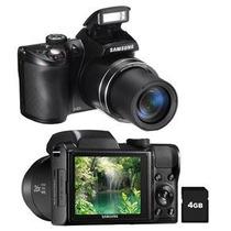Câmera Samsung Wb100 Preta C/ Lcd 3,0, 16.2mp
