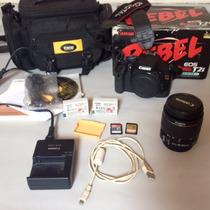 Câmera Canon T2i+lente 18-55+cartão32gb+8gb+bolsa+bat. Extra