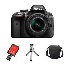 Câmera Nikon D3300 Kit 18-55mm + Cartão 32gb + Bolsa +tripé