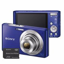 Câmera Digital - Sony Cyber-shot W610 Azul 14.1mp (outlet)